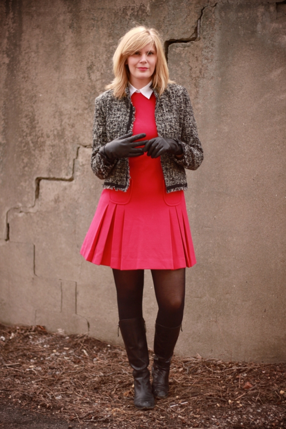Vintage pleats and a boucle jacket // We So Thrifty