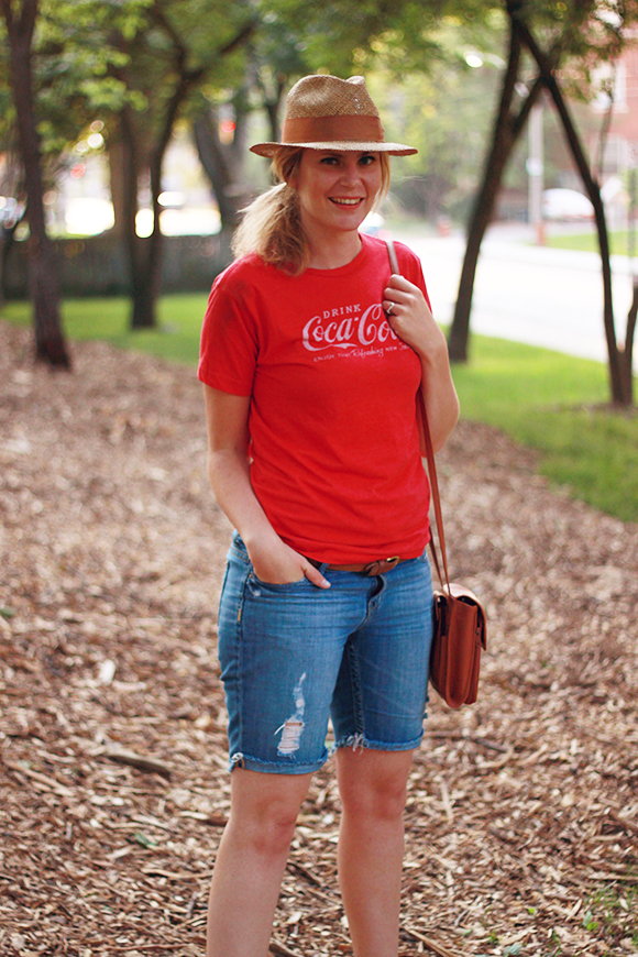 Classic tee and long shorts // We So Thrifty