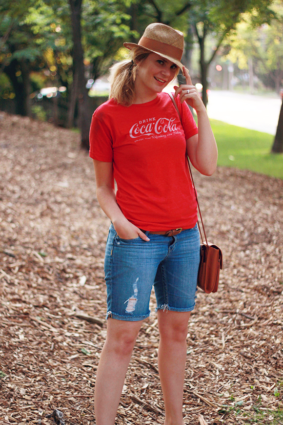Shorts, tees, summer hat // We So Thrifty
