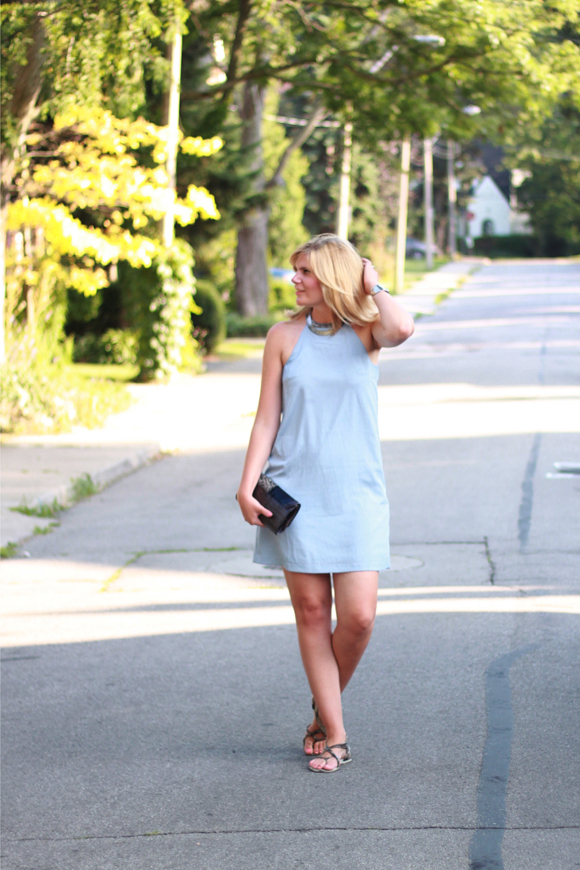 Light blue mini // We So Thrifty