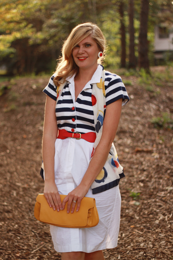 Nautical dress // We So Thrifty