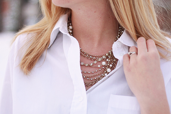 Layered necklace // We So Thrifty