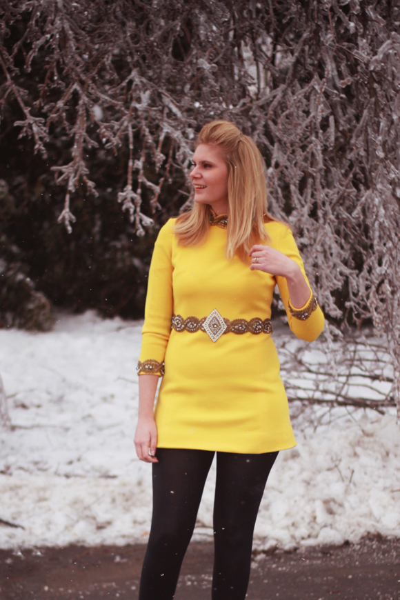 60s embellished tunic/dress // We So Thrifty
