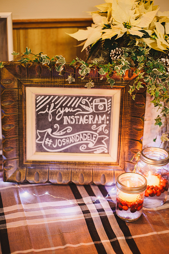 Wedding chalkboard // We So Thrifty // photo © Jenna Bos