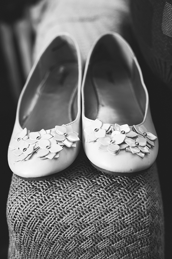 Thrifted bridal flats // We So Thrifty // photo © Jenna Bos