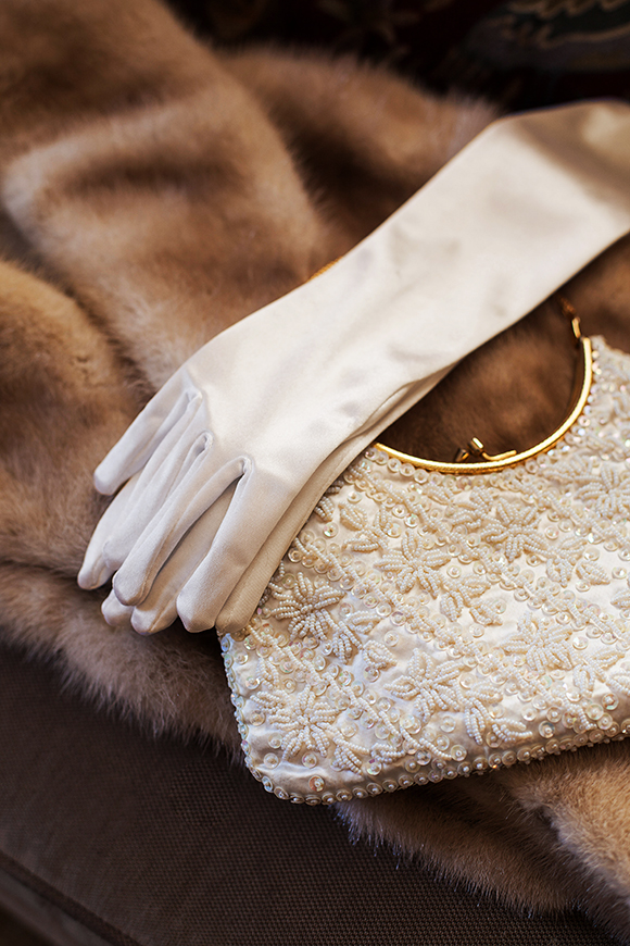 Vintage beaded bridal bag // We So Thrifty // photo © Jenna Bos