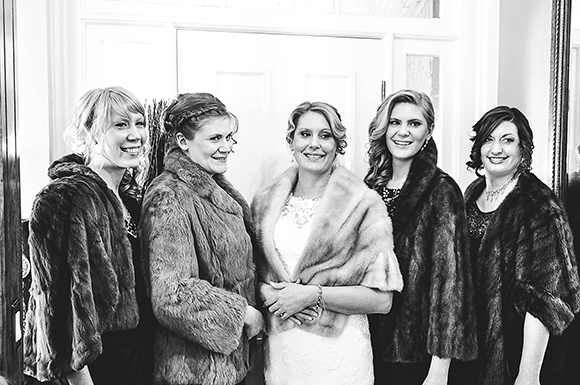 Vintage furs, bridal party // We So Thrifty // photo © Jenna Bos