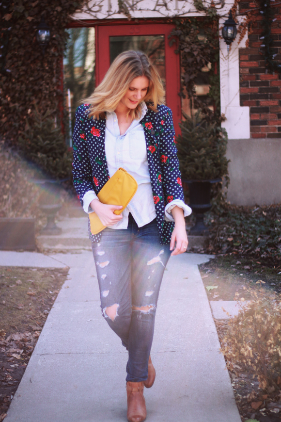 Vintage blazer, leather boots // We So Thrifty
