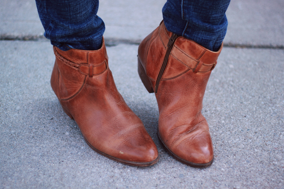 leather ankle boots // We So Thrifty