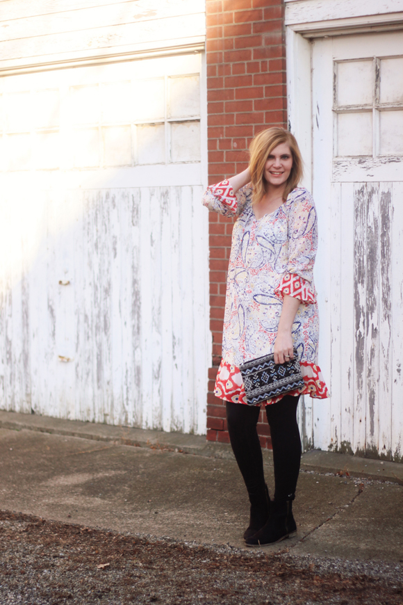 Printed thrifted dress // We So Thrifty